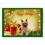 Regalos de la tarjeta de Navidad de Yorkshire Terr