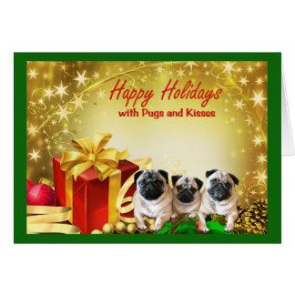 Regalos de la tarjeta de Navidad del barro amasado