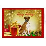 Regalos de la tarjeta de Navidad del boxeador