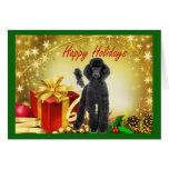 Regalos de la tarjeta de Navidad del caniche