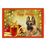Regalos de la tarjeta de Navidad del pastor alemán