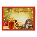 Regalos de la tarjeta de Navidad del perro de agua