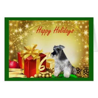 Regalos de la tarjeta de Navidad del Schnauzer min