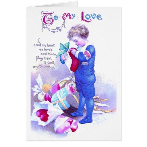 Regalos de la tarjeta del día de San Valentín del