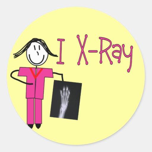 Regalos de la tecnología de la radiografía pegatina redonda