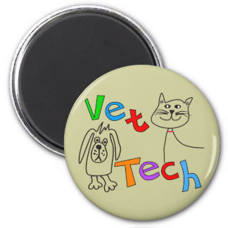 Regalos de la tecnología del veterinario, técnico  imanes para frigoríficos