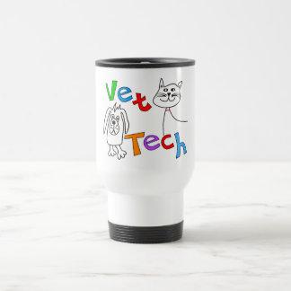 Regalos de la tecnología del veterinario, técnico  taza de viaje de acero inoxidable