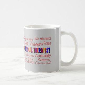 Regalos de la terminología del terapeuta físico taza de café
