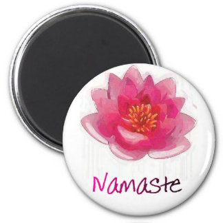 Regalos de la yoga de Namaste de la flor de Lotu Imán De Frigorífico