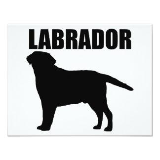 """¡Regalos de Labrador! Invitación 4.25"""" X 5.5"""""""