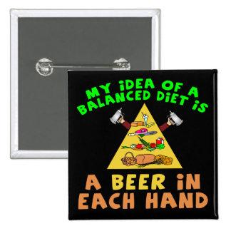 Regalos de las camisetas de la dieta de la cerveza pins