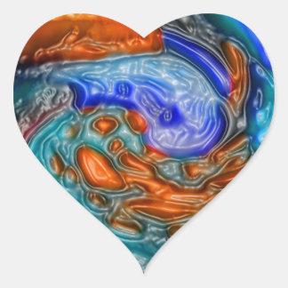Regalos de las camisetas de las tarjetas de los po pegatina corazón personalizadas