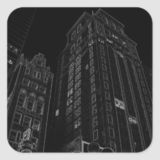 Regalos de las escenas de la noche de New York Pegatina Cuadrada