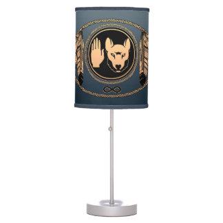 Regalos de las lámparas del lobo de la bandera del
