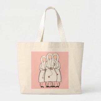 """Regalos de las monjas diseño de """"tres hermanas enc bolsas"""