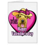 Regalos de las tarjetas del día de San Valentín de