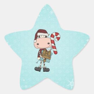 Regalos de las vacaciones - vaca pegatina en forma de estrella