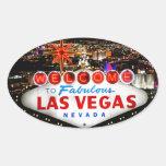 Regalos de Las Vegas Pegatina Ovalada