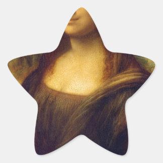Regalos de Leonardo da Vinci Mona Lisa Pegatina En Forma De Estrella