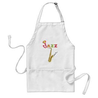 Regalos de los amantes de la música del jazz delantales