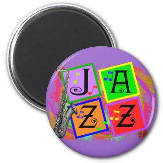Regalos de los amantes de la música del jazz iman para frigorífico
