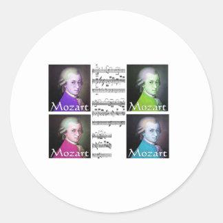 Regalos de los amantes de Mozart Pegatina Redonda
