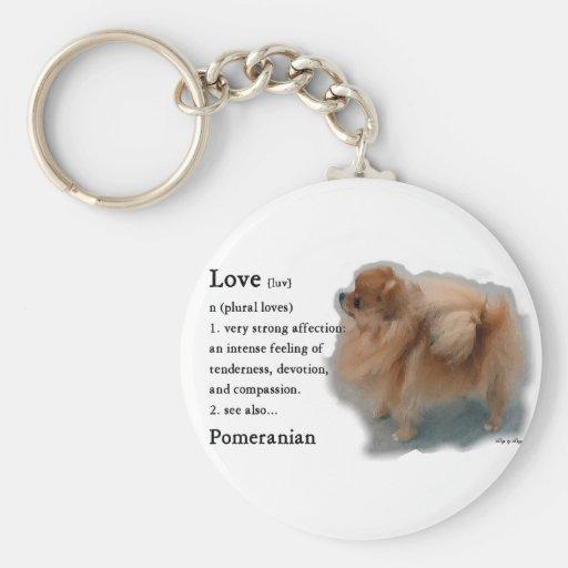 Regalos de los amantes de Pomeranian Llavero Personalizado