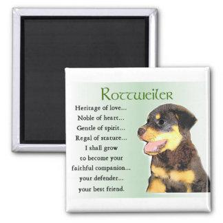 Regalos de los amantes de Rottweiler Imán Cuadrado
