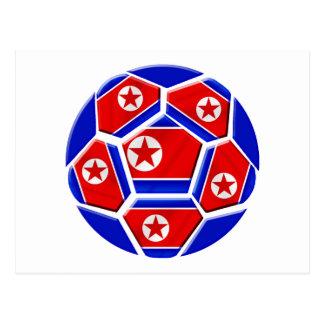 Regalos de los amantes del balón de fútbol de la postal