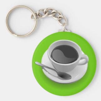 Regalos de los amantes del café llavero redondo tipo pin