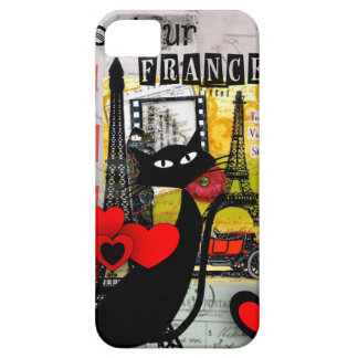 Regalos de los amantes del gato de la torre Eiffel iPhone 5 Case-Mate Cárcasa
