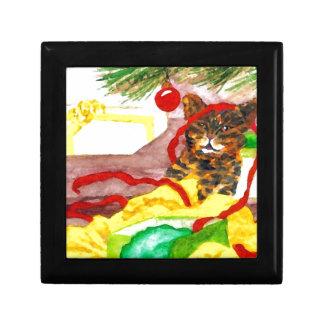 Regalos de los amantes del gato del gatito del ayu cajas de joyas