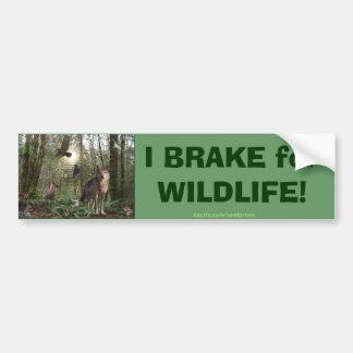 Regalos de los animales del bosque pegatina de parachoque