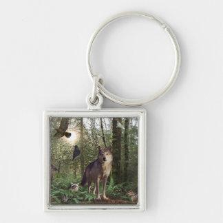 Regalos de los animales del bosque llavero