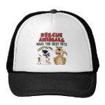 Regalos de los animales del rescate gorras