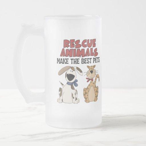 Regalos de los animales del rescate tazas de café