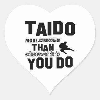 Regalos de los artes MARCIALES de TAIDO Pegatina En Forma De Corazón