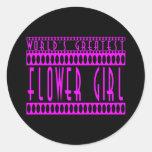 Regalos de los floristas: El florista más grande Etiquetas Redondas