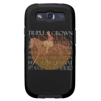 Regalos de los ganadores del Triple Crown y fuente Samsung Galaxy S3 Cobertura