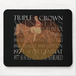 Regalos de los ganadores del Triple Crown y fuente Tapete De Ratones