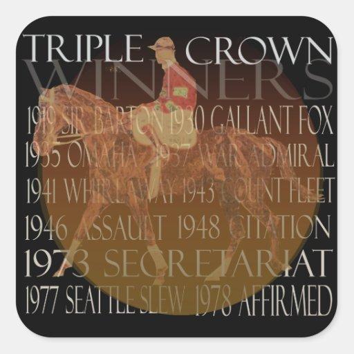Regalos de los ganadores del Triple Crown y Colcomanias Cuadradas Personalizadas