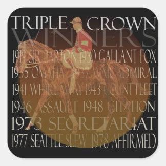 Regalos de los ganadores del Triple Crown y Pegatina Cuadrada