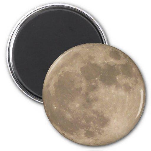Regalos de los imanes del refrigerador de la Luna Imán Redondo 5 Cm