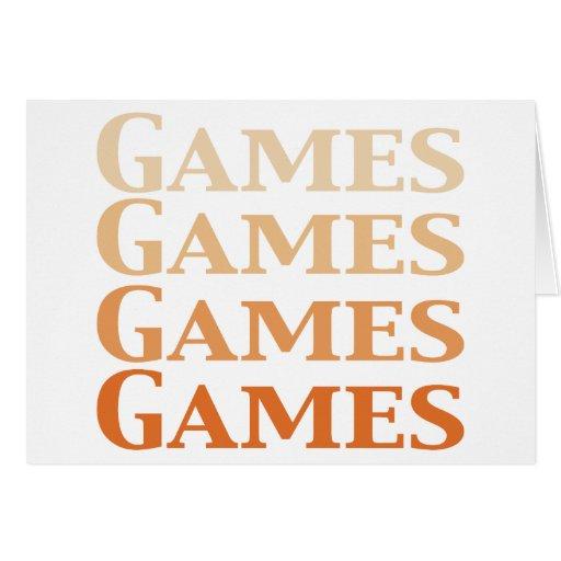 Regalos de los juegos de los juegos de los juegos  tarjetón