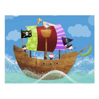 regalos de los piratas ahoy postales