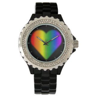Regalos de los relojes del amor del arco iris del