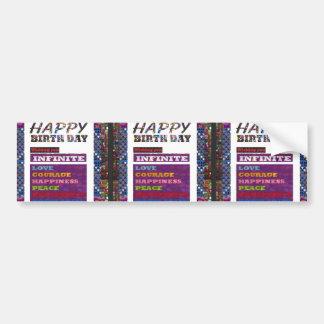Regalos de los saludos n del feliz cumpleaños de pegatina para auto