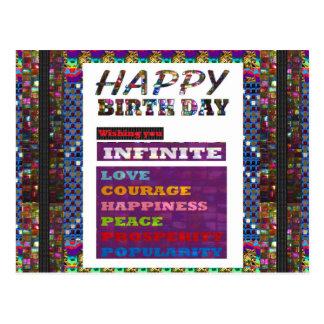 Regalos de los saludos n del feliz cumpleaños de postal