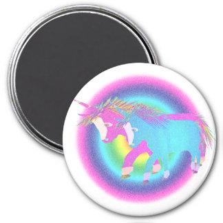 Regalos de los unicornios del arco iris imán redondo 7 cm