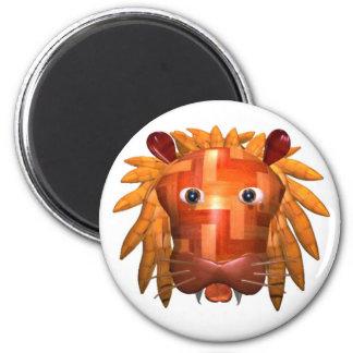 Regalos de madera del león de Valxart Imán Redondo 5 Cm
